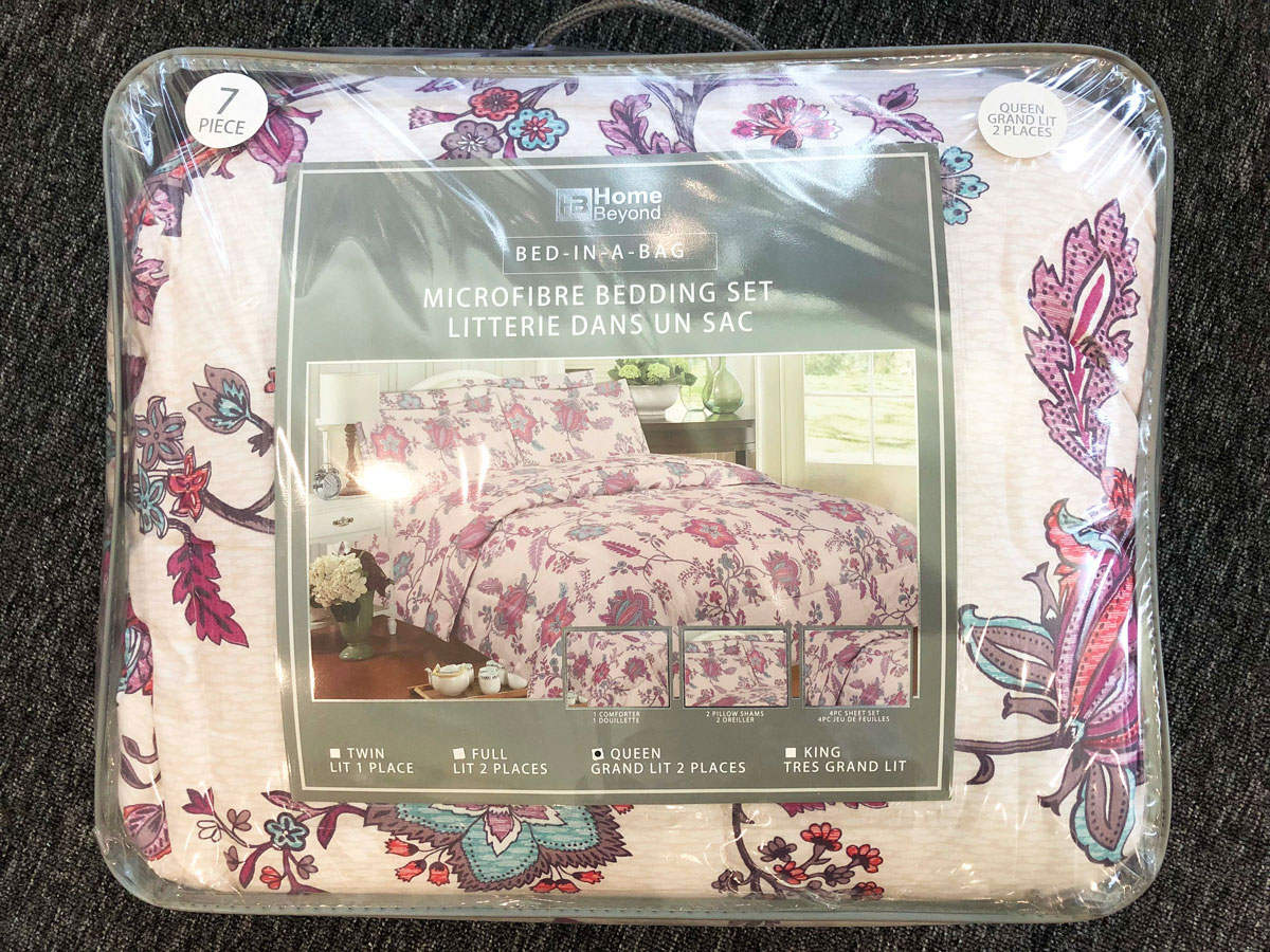 7pc Queen Double Bed In A Bag Campus Linens Canada
